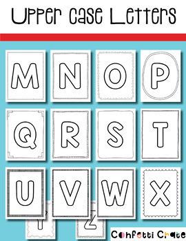 Alphabet Books in Upper and Lower Case (Preschool or Kindergarten)