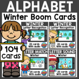 Alphabet Boom Cards Bundle | Winter Boom Cards Distance Learning
