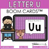 Alphabet Boom Cards - Letter U (Letter Recognition and Let