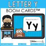 Alphabet Boom Cards - Letter Y (Letter Recognition and Letter Sound Boom Cards)