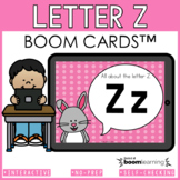 Alphabet Boom Cards - Letter Z(Letter Recognition and Lett