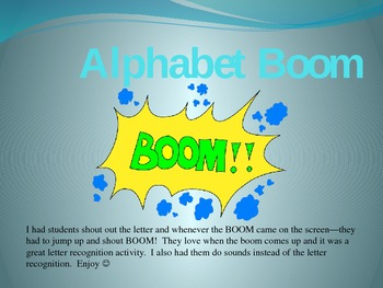 Alphabet Boom Powerpoint Game