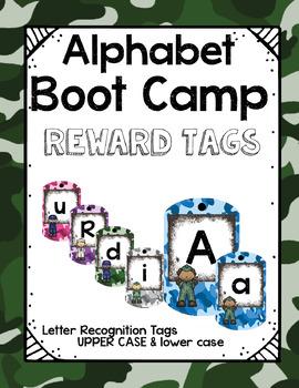 Alphabet Boot Camp Brag Tags! Rainbow Camouflage Style