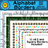 Alphabet Borders Clip Art (Block and Cursive ABC's)