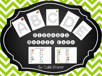 Bottle Cap Center {Alphabet Recognition and Oral Counting}