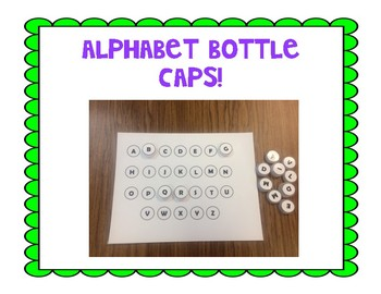 Alphabet Bottle Caps (Uppercase)