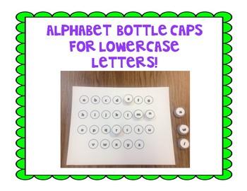 Alphabet Bottle Caps for Lowercase letters