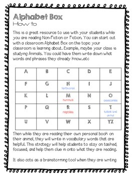 Alphabet Box Reading Resource