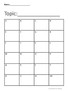 Alphabet Boxes