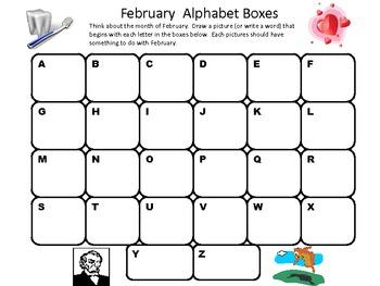 Alphabet Boxes January-June