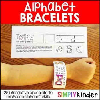 Alphabet Bracelets - Alphabet Activities