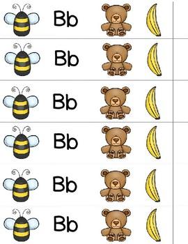 Alphabet Bracelets (color and Black & White)