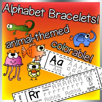 Alphabet Bracelets, wristbands