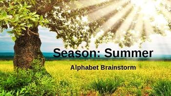 Alphabet Brainstorm: Summer (Season)