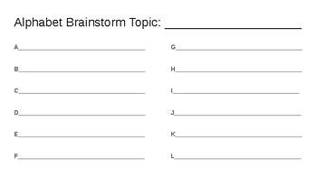 Alphabet Brainstorm: Winter (Season)