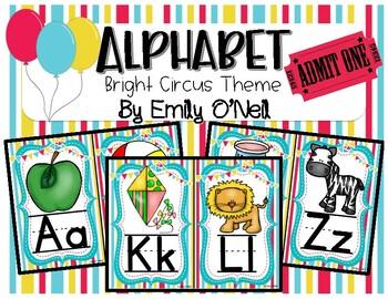 Alphabet (Bright Circus Theme)