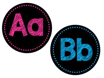 Alphabet Bright Word Wall Headers BRIGHT