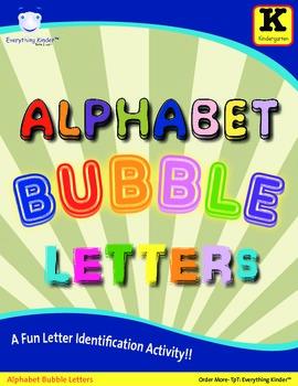 Alphabet Bubble Letters - Letter Identification Activity