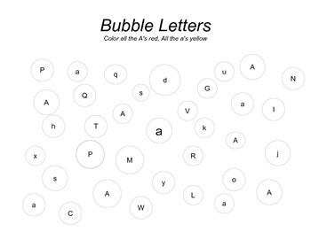 Alphabet Bubble letter