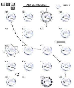 Alphabet Bubbles One