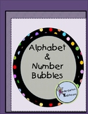 Alphabet & Number Bubbles