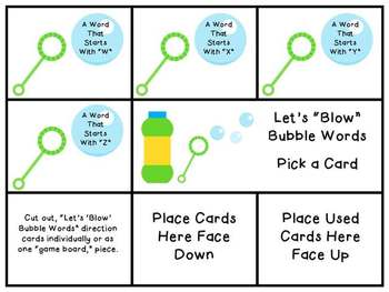 Alphabet Bubbles: Phonemic Awareness