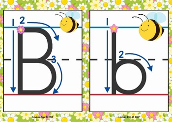 alphabet handwriting cards with directional arrows buggy theme by lavinia pop. Black Bedroom Furniture Sets. Home Design Ideas