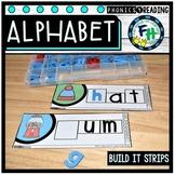 Alphabet Build-It Strips {Word Work}