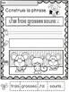 Alphabet Build a Sentence/Alphabet -Phrases à construire avec lettre vedette