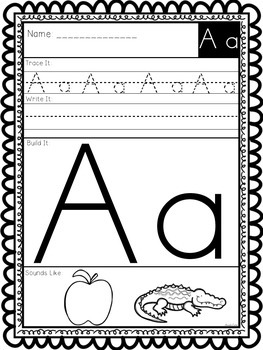 Alphabet Building - Learning Our Letters