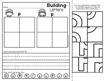 Alphabet Building Letters