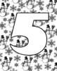 Alphabet Bulletin Board Letter Set Snowmen & Snowflakes Transparent Background