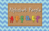 Alphabet Bulletin Board People (Letters A to Z) - ZisforZebra