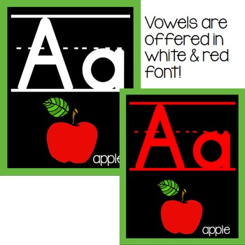 Alphabet Bulletin Board Posters {Bright & Bold}
