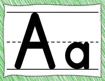 Alphabet Bulletin Board Posters (Spanish & English)
