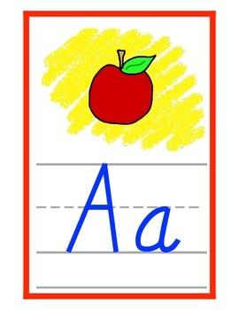 Alphabet Bulletin Board Set (D'Nealian style)