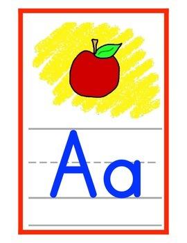 Alphabet Bulletin Board Set (Zaner Bloser style)