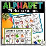Alphabet Bump Games Letter Recognition Activity No Prep Li