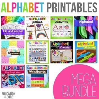 Alphabet Activities | Alphabet Printables Bundle | Letter Sounds