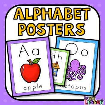 Alphabet Bundle: Worksheets, Posters, and Activities