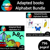 Alphabet Bundle ADAPTED BOOKS alphabet A-Z book & 26x letter of the week books