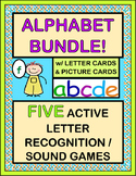 """Alphabet Bundle!"" -- FIVE Active Group Games, Rhymes, and Songs"