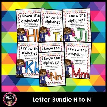 Alphabet Letters Bundle H I J K L M N