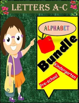 Alphabet Specialty: Alpha Bundle Letters A B & C 43 pages of learning activities