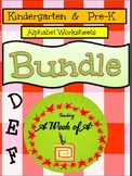 Alphabet Specialty: Alpha Bundle Letters D, E, F    30 pages