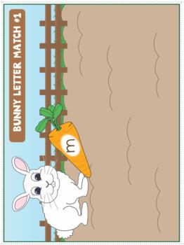 Alphabet - Bunny File Folder Sound Match