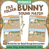 Alphabet - Bunny File Folder Sound Match