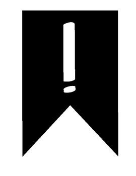 Alphabet Bunting - all caps