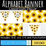 Alphabet Bunting Banner: Sunflower
