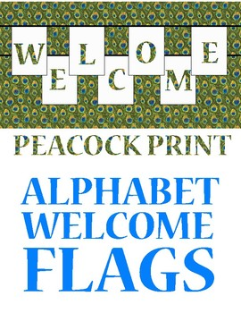 Alphabet Bunting Flags -- DIY -- Print Your Own Message